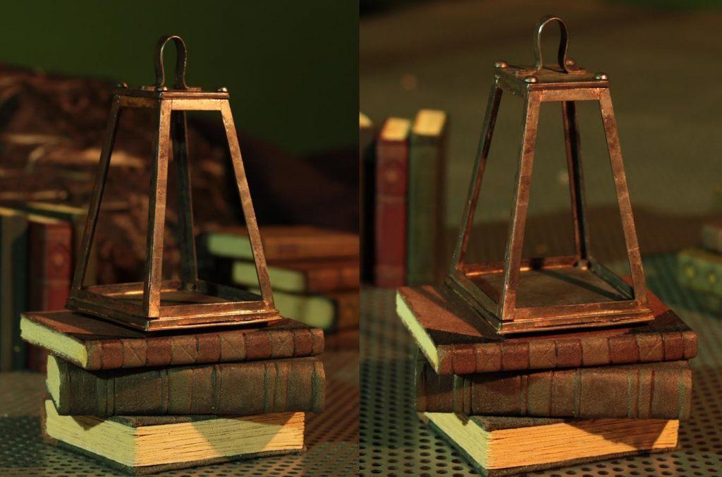 Lantern & books props